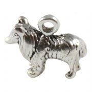 Collie Dog 3D Sterling Silver Charms